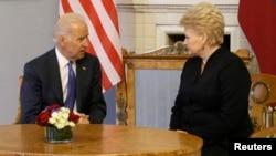 Joe Biden və Dalia Grybauskaite