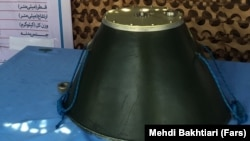 """Iranian """"Sticky Mine"""" displayed at a 2015 military show in Tehran"""