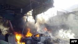 Ilustrim nga luftimet në Siri