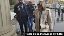 """Ана Камчева пристигна во Кривичниот суд каде ќе сведочи за случајот """"Рекет"""""""