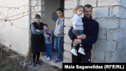 Georgia -- Karaleti IDP settlement. Tedliashvili's family. Gori, 31Dec2014