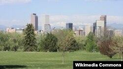 Koloradonun Denver şəhərində bir park