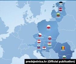 Країни-учасниці «Ініціативи трьох морів»