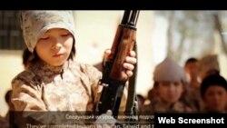 """Скриншот видео """"о детях казахстанских джихадистов""""."""