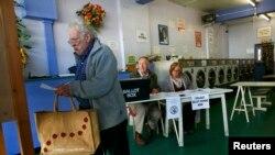 Избирательный участок в Оксфорде, 7 мая 2015 года