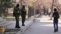 Хроники крымского сопротивления: как в Симферополе блокировали украинские военные части (видео)