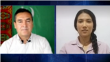 Murad Gurbanov and Turkmen activist Dursoltan Taganova. Interview on 6th of November 2020