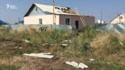 Разрушения от урагана в Западно-Казахстанской области