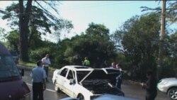 На Кодорском шоссе взорван автомобиль