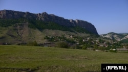 NAGORNO-KARABAKH -- Shushi/Susa is perched on top of the cliffs that tower above the village of Qarintak/Dashalty in Nagorno-Karabakh