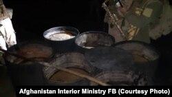 کارخانه تولید هیروئین در ولایت ننگرهار که از سوی نیروهای افغان تخریب شد.