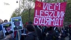 "Акция ""Остановим Москву!"" в Будапеште"