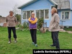 Жители деревни Лисье - Елена, Нина Викторовна и Зинаида