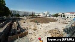 Ремонт на площі Леніна в Сімферополі, 24 серпня 2021 року