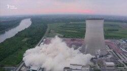 Ефектний вибух знищив охолоджувальні вежі АЕС у Німеччині – відео