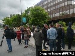 Protest radnika Krivaje ispred zgrade Vlade u Sarajevu