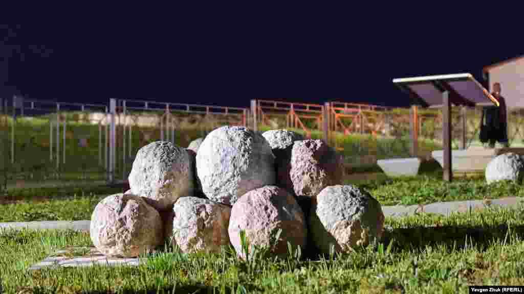 Кам'яні ядра для баліст – візантійських метальних машин