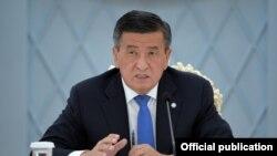 Президент КР Сооронбай Жээнбеков.