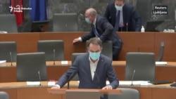 Slovenački parlament u trenutku zemljotresa