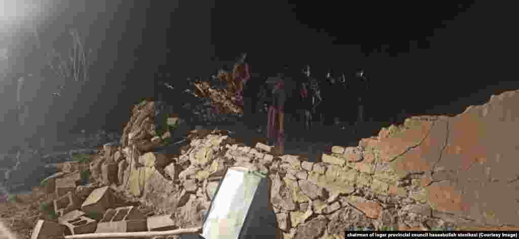 تخریب یک منزل مسکونی در اثر انفجار موتربمب در لوگر.