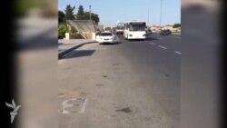 Avtobuslar Bakıda qəza şəraiti yaradır- [Video]
