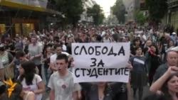 Антивладините протести го блокираа центарот на Скопје