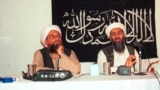 Osama bin Laden (right) holds a news conference in Afghanistan in 1998 with with his future successor, Ayman al-Zawahiri (left), who currently leads Al-Qaeda.
