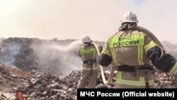 Пожар на свалке в Крыму (архивное фото)