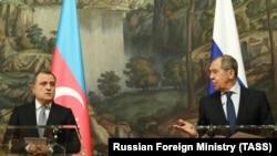 Ադրբեջանի և Ռուսաստանի արտգործնախարարներ Ջեյհուն Բայրամով և Սերգեյ Լավրով, արխիվ