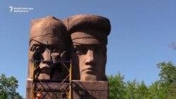 Ukraine Far-Right Group Defaces KGB Monument