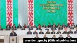 Лукашэнка выступае на папярэднім Усебеларускім народным сходзе, 22 чэрвеня 2016 году