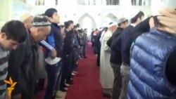 Намози иди Қурбон дар масҷиди марказии шаҳри Душанбе
