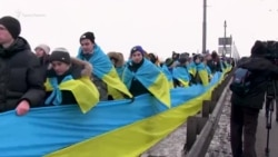 Кримчани стали частиною «ланцюга єдності» в Києві