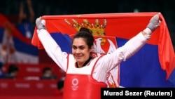 Milica Mandić slavi zlato na Olimpijskim igrama u Tokiju, 27. jul 2021.
