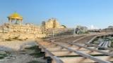 Монтаж деревянной дорожки на территории музея-заповедника «Херсонес Таврический»