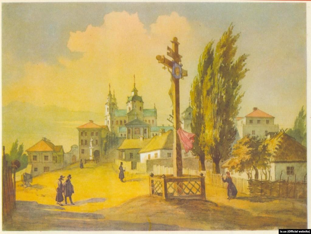 Тарас Шевченко «Почаївська лавра зі сходу» (акварель), 1846 рік