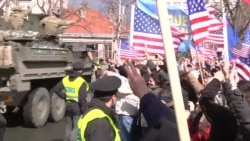 Czechs Give Warm Welcome To U.S. Military Convoy