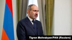 ARMENIA -- Armenian Prime Minister Nikol Pashinian speaks during his address to the nation in Yerevan, Armenia November 12, 2020.