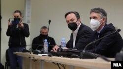 """Сашо Мијалков и неговиот адвокат Петар Василев на изрекувањето на пресудата во предметот """"Таргет - Тврдина"""""""