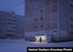 Pemandangan jalanan di Yakutsk ini memenangkan Vasilyev salah satu penghargaan fotografinya.