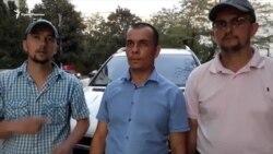 В Симферополе отпустили часть активистов, задержанных у здания ФСБ (видео)