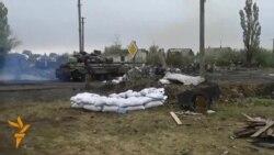 Ukrainian Soldier's Video Shows Intense Fighting Around Donetsk