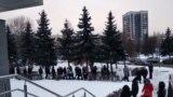 Стихийный митинг у здания администрации Новокузнецка, 23 ноября 2020 года