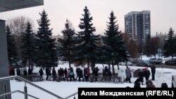 Стихийный митинг против транспортной реформы, Новокузнецк, ноябрь 2020 года