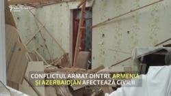 Conflictul dintre Armenia și Azerbaidjan. Sute de civili au fost răniți