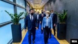 Претседателот на Европската Комисија Урсула вон дер Лајен во посета на Скопје 28.09.2021