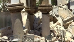 Greek Island's Buildings Left In Ruins After Deadly Quake