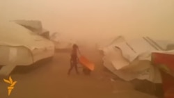 Sandstorms Cause Havoc At Refugee Camp In Iraq