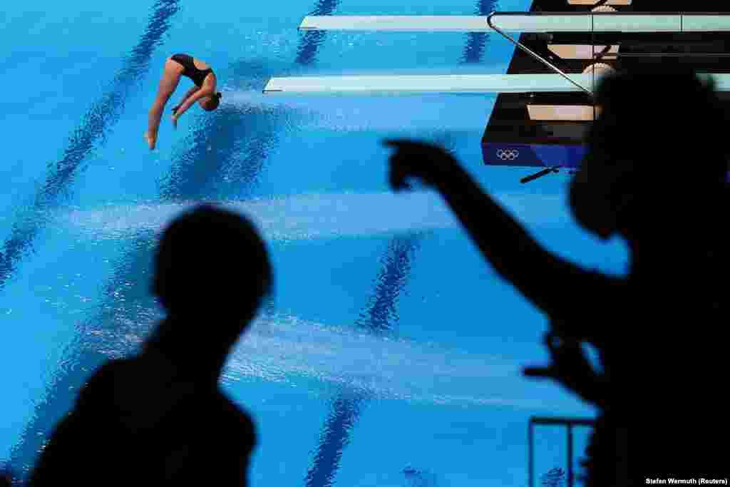 Хейлі Ернандес, США.Півфінал стрибків у воду– 3-метровий трамплін для жінок. Токіо, 31 липня 2021 року