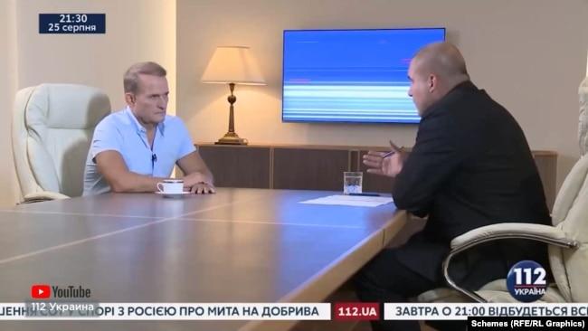 Тоді почали ширитися чутки про купівлю Віктором Медведчук телеканалу «112 Україна», а медіаексперти помітили зміну редакційної політики і часті згадки Медведчука в ефірі